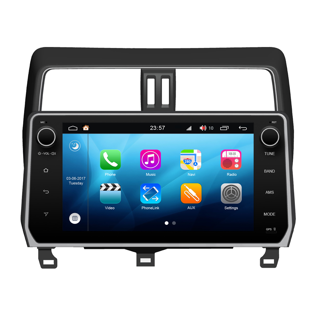 RoverOne Android 8.0 Octa Core Car <font><b>Radio</b></font> GPS For <font><b>Toyota</b></font> Prado <font><b>150</b></font> <font><b>2018</b></font> Touchscreen Multimedia Player Android Stereo Head Unit image