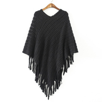 Elegant New Fashion Women Clothes Poncho Cloak Sweater For Women Lasies Autumn Winter Pullovers Knitwear Jumper