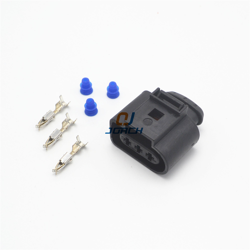 10 Sets 3 Pin VW Auto Waterproof Connector 1J0973723 Car 3.5 Series Sensor Connectors Plug  1J0 973 723