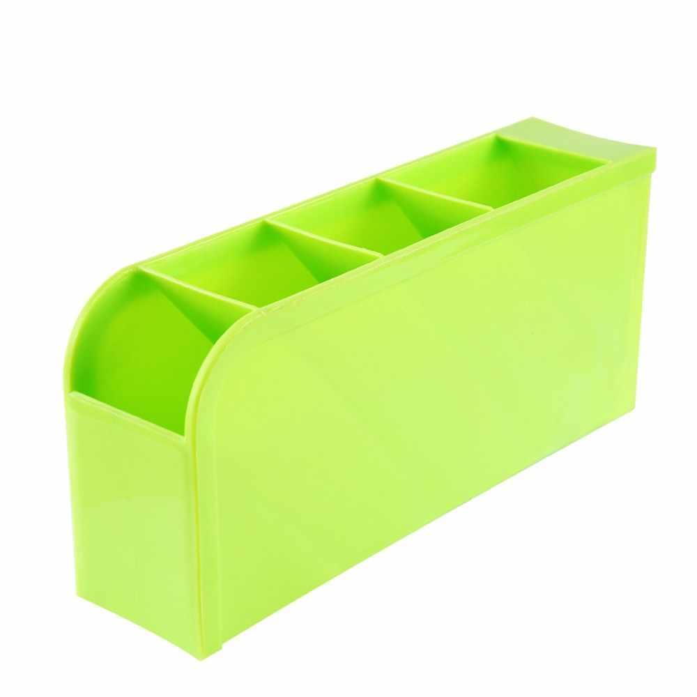 4 Cells พลาสติกจัดเก็บกล่อง Tie Bra ถุงเท้าลิ้นชักเครื่องสำอาง Divider คุณภาพสูงทำความสะอาดจัด