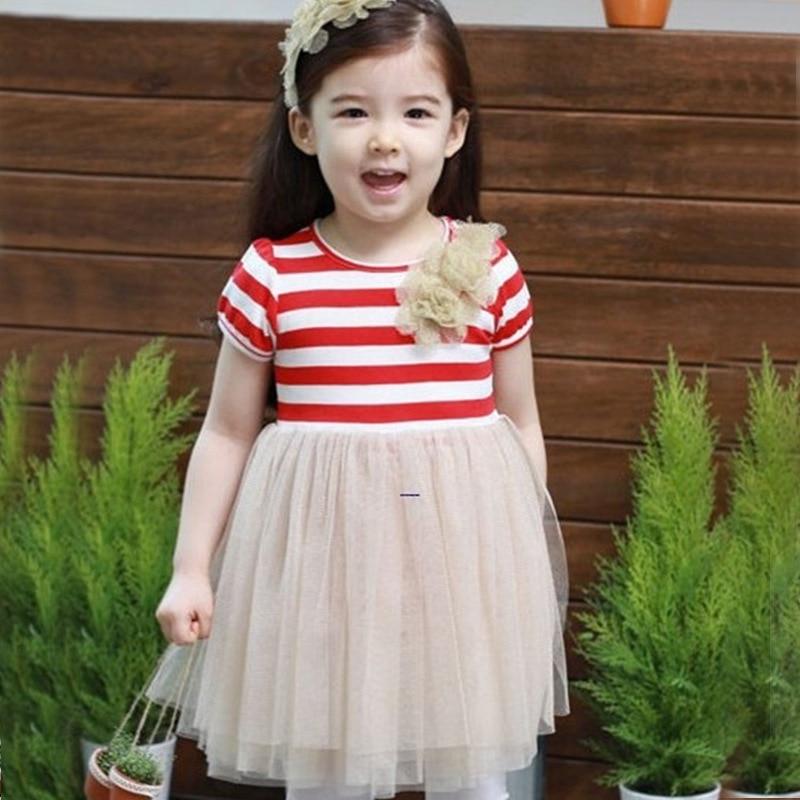 29eefff91774c 2019 جديد الكورية الجنوبية الفتيات فستان صيفي زهرة شريط الشاش الأميرة اللباس