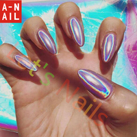 1g/box Laser Silver Holographic Shiny Powder Magic Mirror Powder Nail Glitters Nail Art Sequins Chrome Pigment Nail Polish Dust