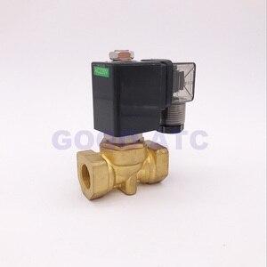 """Image 2 - ゴーゴーノーマルクローズ 2 ウェイコンパクトパイロット水真鍮ソレノイドバルブ 16bar 1/4 """"3/8"""" 1/2 """"BSP オリフィス 10 ミリメートル 220 ボルト AC PXC D14511 NBR"""