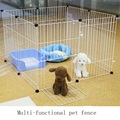 Multifunctional pet fence Super strong bearing iron cage The pet dog cat rat rabbit fence Specifications: 4 piece