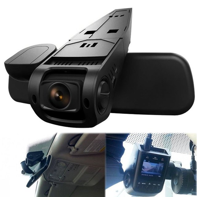 Car DVR Dash Cam Video Recorder 170 Degree Wide Angle Lens Hidden H.264 1080P Full HD High Resolution  vehicle recorder