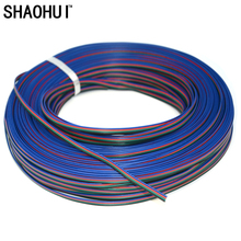 10M 4pin 4Channels Flexible led Extension Cable 4-Pin Cord Wire for RGB 3528 5050 LED Strip Light free shipping