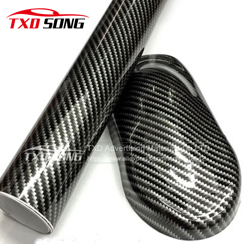 60cmx152cm lot glossy black 2d carbon fiber vinyl wrap film diy car sticker car decorative for vehicle motorcycle 3 colors