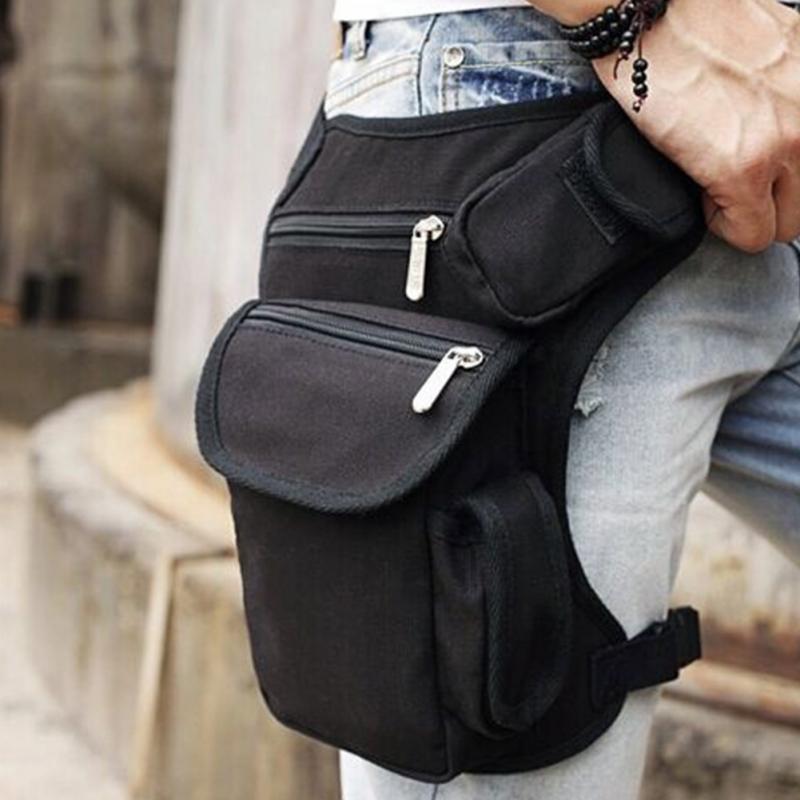 Men Canvas Drop Leg Bag Waist Fanny Pack Belt Military Travel Motorcycle Multi-purpose Messenger Shoulder Bags