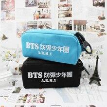Youpop BTS Bangtan niños KPOP K-POP KPOP Joyería Paquete de Admisión de Lona Bolsas de Lápiz Caso Cosmético Kits de Papelería Estudiante