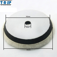New Arrival 1 X 180mm 7 Wool Polishing Buffing Pad Wheels With Foam For Car Styling