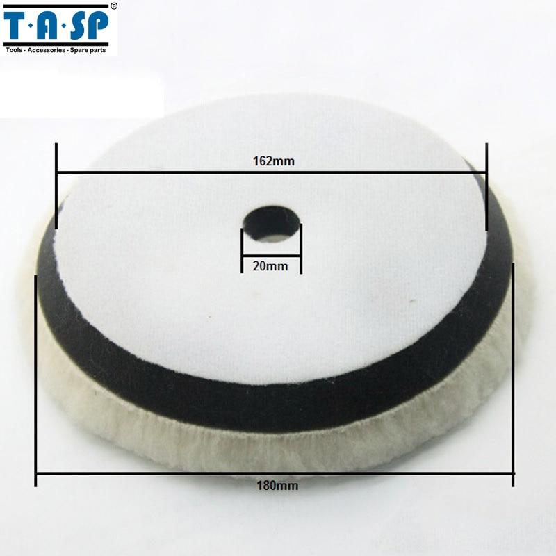 Ruote lucidanti TASP 180mm per lucidatura lana per lucidatore auto