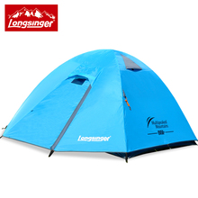 Longsinger Ultra light 3 4 double layer aluminum rod professional outdoor camping hiking tent