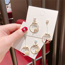 Korea Handmade Anti-allergy Angle Wings Asymmetry Women Drop Earrings Dangle Fashion Jewelry Accessories-QQD5