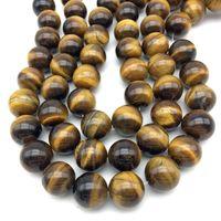 Vendita calda di Nuovo Arrivo Perle in pietra Naturale Occhio di Tigre Giallo Perle Tonde 16mm 18mm FAI DA TE Monili Che Fanno Rare Bead