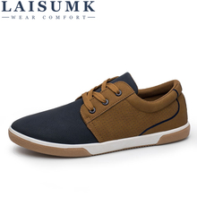 LAISUMK Casual Shoes For Men Spring Summer Ventilation Light Lace-Up Hot Sales Fashion Sneakers
