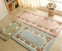 45 120cm Pastoral Carpet Living Dining Bedroom Area Rugs Slip Resistant Floor Mats Washable Bathroom Carpet