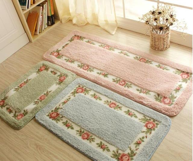 Ordinaire Pastoral Floor Carpet Living Room Bedroom Carpet Area Rug Anti Slip Floor  Mat Bathroom Carpet