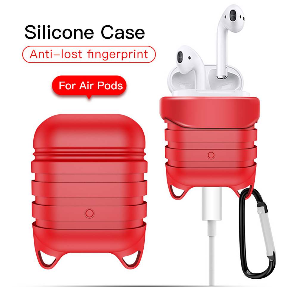 !ACCEZZ Silicone Earphone Case For AirPod Protective Bluetooth Wireless Headset Cover Accessory For Apple Airpods Headphone Box (3)