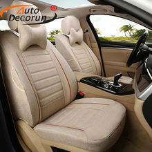 AutoDecorun Car Seat Cover for Fiat Freemont 2014 Accessories 7 Seat Covers for Cars Cushion Custom Fit Seat Support Car Styling
