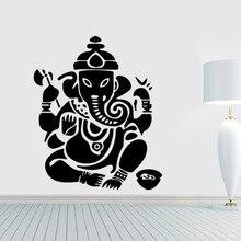 Indian Elephant God Wall Sticker Living Room Bedroom Hindu Ganesha Classic Poster Wallpaper Mandala Decal Vinyl Murals Decor