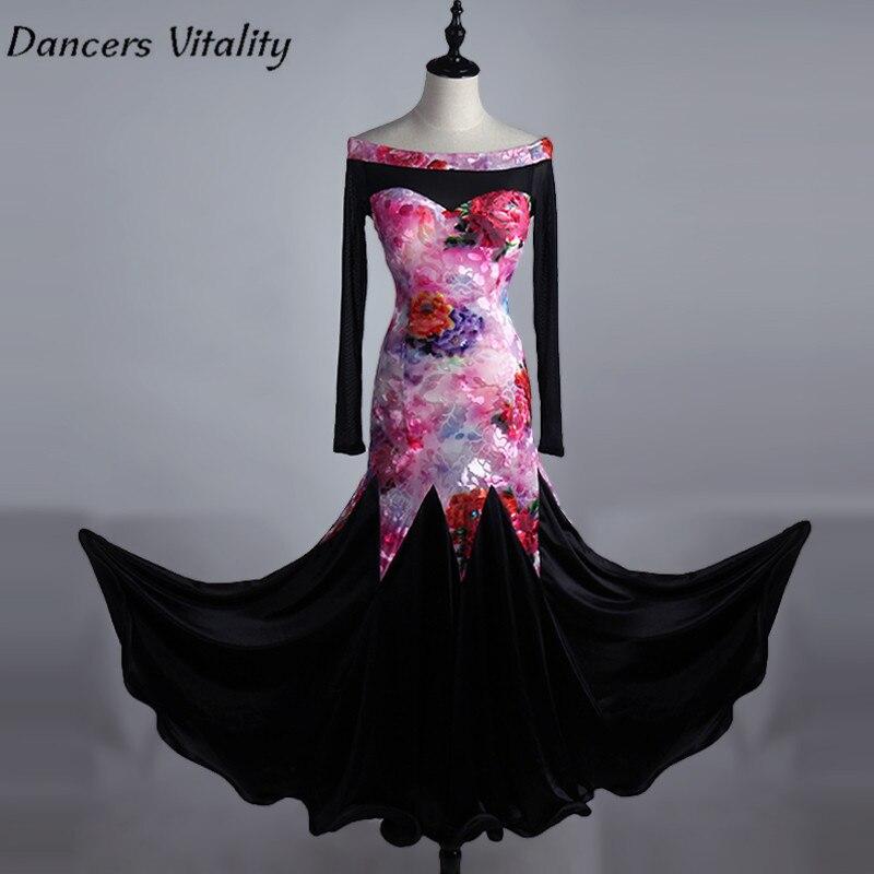 2017 Professional Latin Dacing Dress Competition Ballroom Standard Dance Dress,modern Dance Dress,Sunflower Dancedress