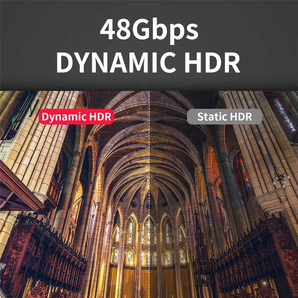 2019 Navceker 8 HDMI 2.1 光ファイバケーブル 4K @ 60 60hz の Hdmi ケーブル 2.1 48 5gbps HDMI 2.1 ケーブル 5 メートル 10 メートル UHD HDMI 2.1 8 18K モニター