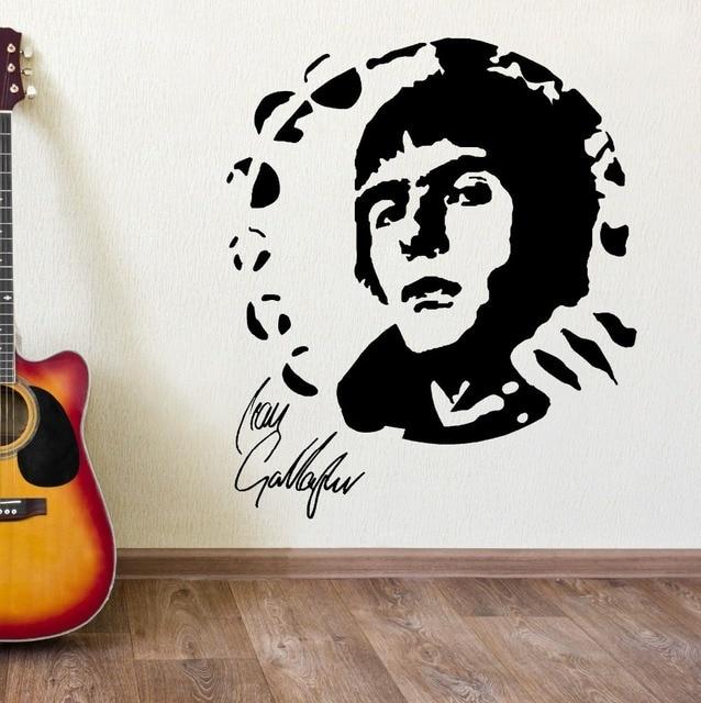 Liam Gallagher Oasis Portrait Vinyl Wall Art Sticker Mural Decal