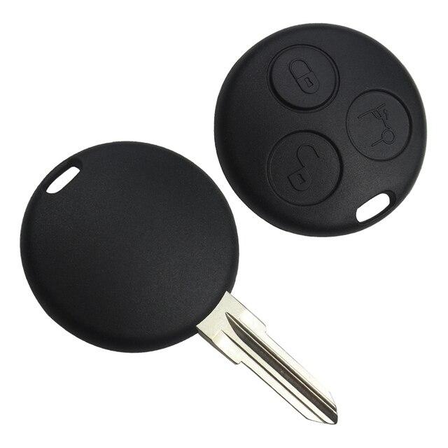 OkeyTech-etui de clé à 3 boutons | Coquille de clé à distance pour voiture, porte-clés pour Mercedes Benz Smart fordeux 450 forquatre Roadster Chiave