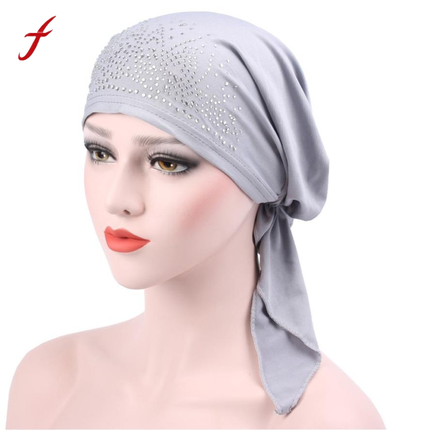 2018 Women Muslim Ruffle Cancer Chemo Hat Beanie Scarf Turban Head Wrap Cap Fashion casual Polyester fiber Wrap Cap Promotion