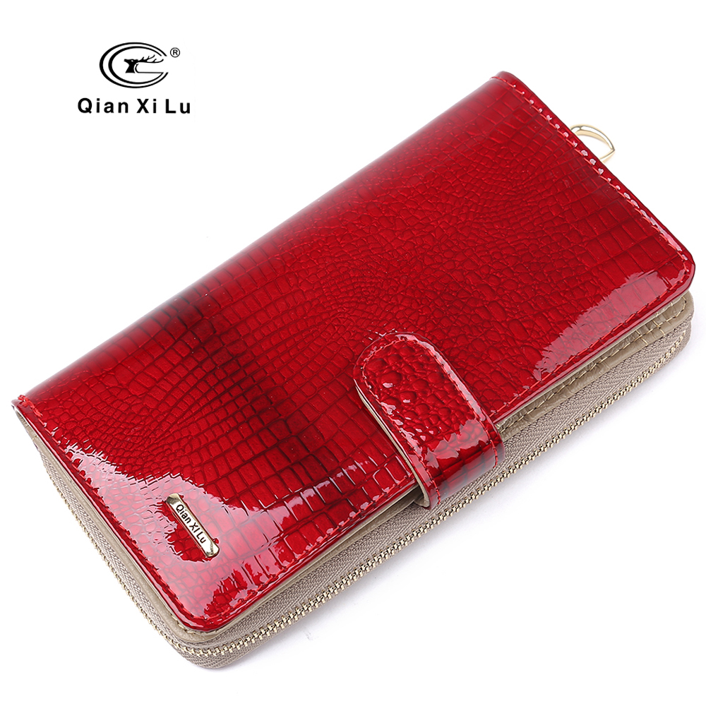 Brand Design Women Leather Wallets and Purse Female Hasp Fashion Alligator Long Organizer Wallet Festival Bride Marry Gifts free shipping 10pcs hd63b40fp