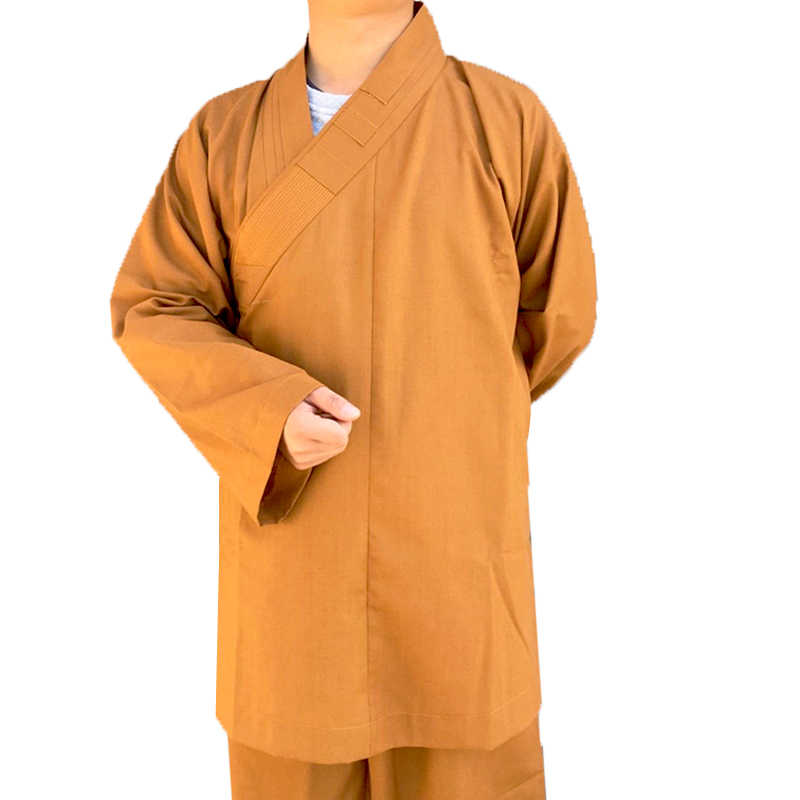 Boeddhistische Monniken Kostuum Shaolin Tempel Kleding Gewaad Zen Kleding Boeddhisme Meditatie Lohan Kleding Lag Monnik Kostuum