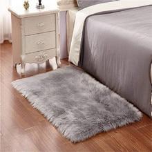 Comfortable Sheepskin Style Rug(50x150cm)Rectangle Soft Longhair Decorative Cushion Chair Sofa Mat Faux Sheep Skin Woolen Carpet