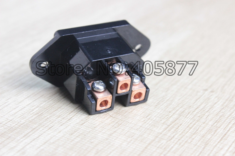 High Quality Audio Grade Pure Copper plated IEC Inlet Socket Audio IEC Inlet Socket
