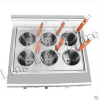 110V 220V Commercial Electric Cooking Noodles Multifunctional 6 Grids Noodle Machine Gas Electric Noodle Machine