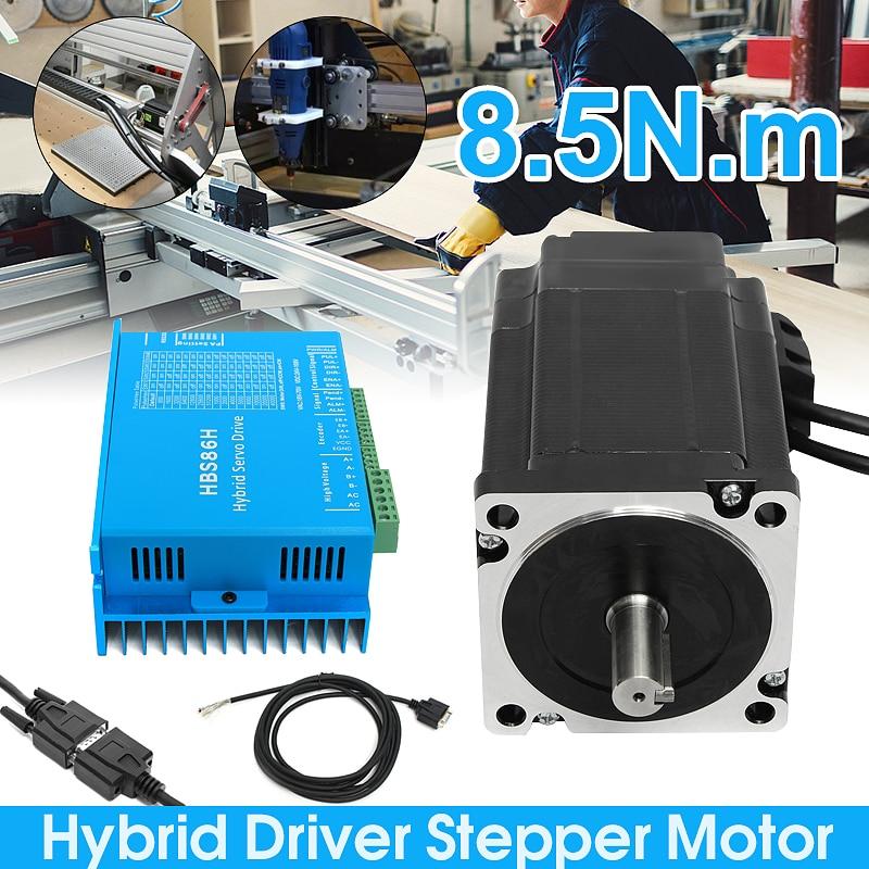 1 ensemble Nema34 boucle fermée 8.5N.m servomoteur pas à pas moteur pas à pas 6A HSS86 hybride pas à pas-servomoteur CNC Kit de contrôleur