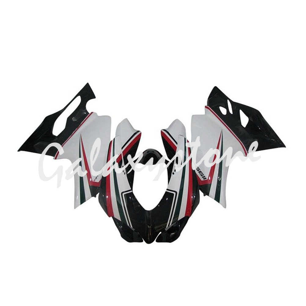 Fit for DUCATI 1199 Panigale 2012-2013 ABS Plastic Fairing Bodywork Black&White&Red