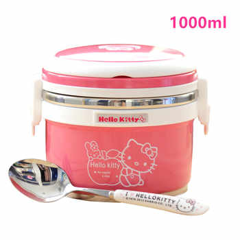 Thermos Lunch for Soup kids thermos mug Food Storage Container 1000ml with spoon Portable Stainless Steel 304 Thermal Lunch Boxs - DISCOUNT ITEM  20% OFF Home & Garden