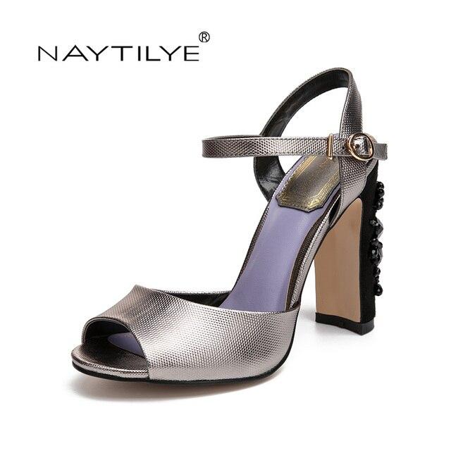 f772d505d4e0 New shoes NAYTILYE Summer Sandals Bling Rhinestone Flats Women Sandals High  heels Fashion Comfortable Shoes Woman