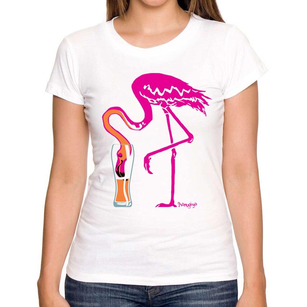 2016 Hot Sales Summer Fashion Flamingo Ing Going Gone! Design Women T Shirt Flamingo Drinking ...