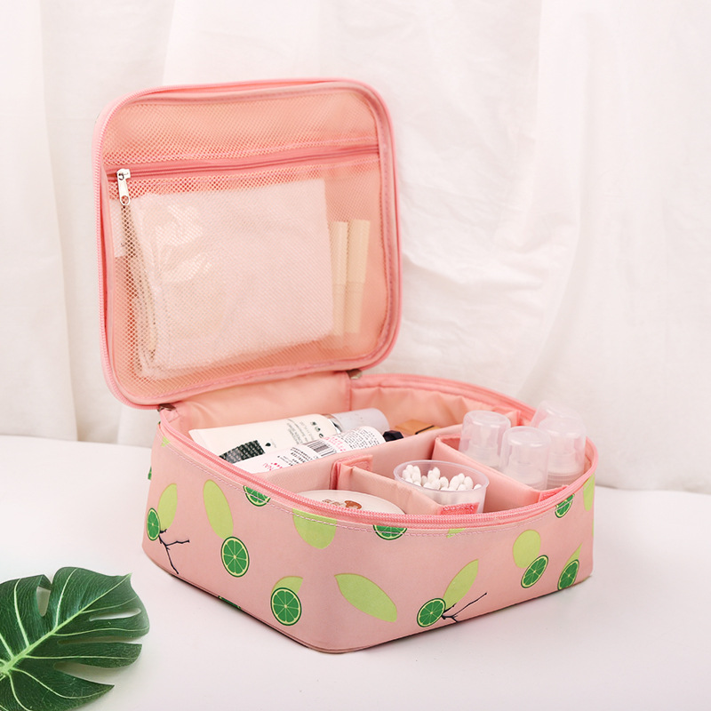 Fashion Women Make up bag Big Capacity travel Cosmetic bags beauty Case zipper MakeUp Organizer Toiletry bag kits Wash pouch women travel cosmetic bags diamond lattice zipper men makeup bags organizer beauty toiletry bag bath wash make up kits case