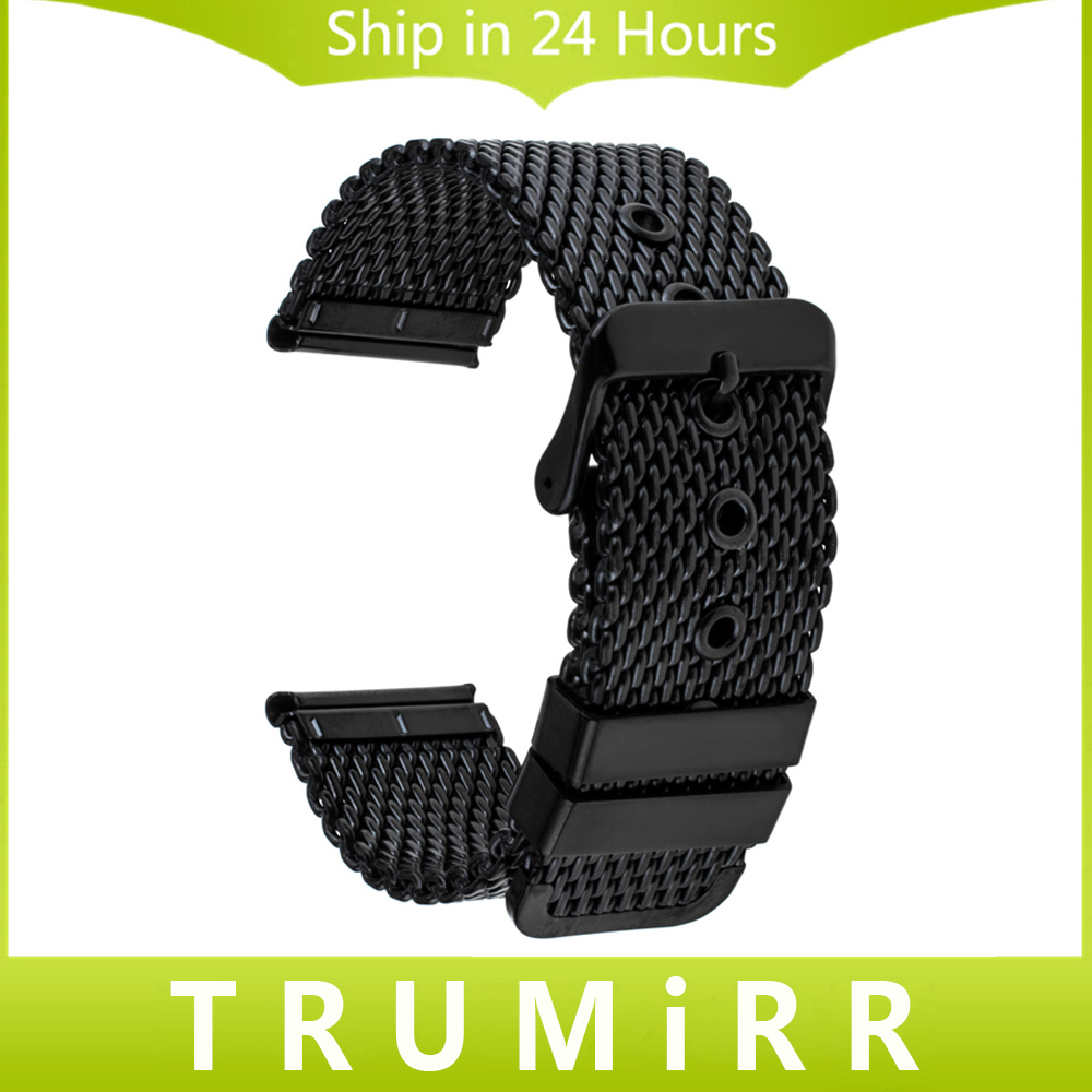 20mm 22mm 24mm Milanese Watchband + Tool for Diesel Men Women Watch Band Stainless Steel Strap Wrist Belt Bracelet Black Silver 22mm 24mm silicone rubber watchband tool for garmin fenix 5 epix vivoactive hr watch band wrist strap 316l steel clasp bracelet