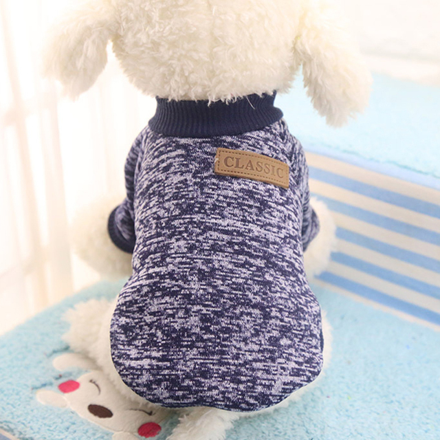 Dog Clothes For Small Dogs Soft Pet Dog Sweater Clothing For Dog Winter Chihuahua Clothes Classic Pet Outfit Ropa Perro 20-22S1 3