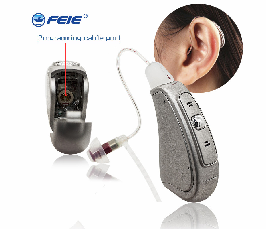 Hearing Aid FEIE 8 Channels Open Ear Earphone Tinnitus Masker Mini Amplificador Deaf Equipment MY 20 Free Shipping-in Ear Care from Beauty & Health    1