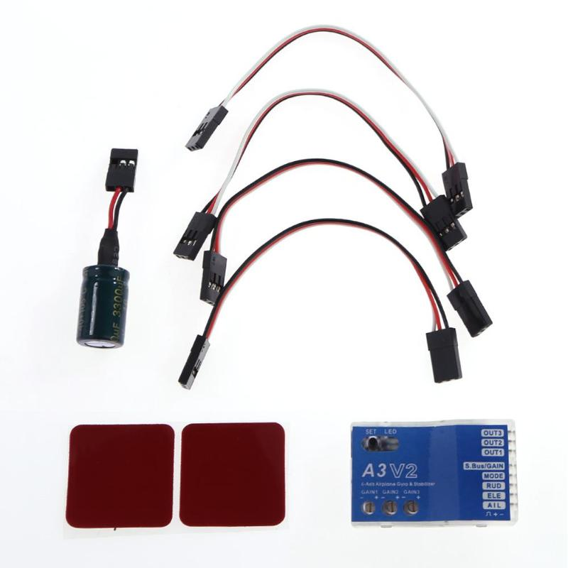 A3 V2 Aeroplane Flight Controller Stabilizer 4 Flight Modes for RC Airplane Fixed-wing Multicopter wholesale 1pcs mwc multiwii standard se v2 5 flight controller for multicopter quad x gimbal dropship