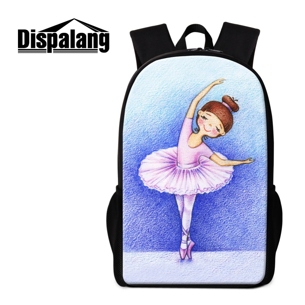 Dispalang Ballet Girls Back to School Backpack Dropshipping Innovative Products 2018 Children Travel Bookbag Artistic Mochilas