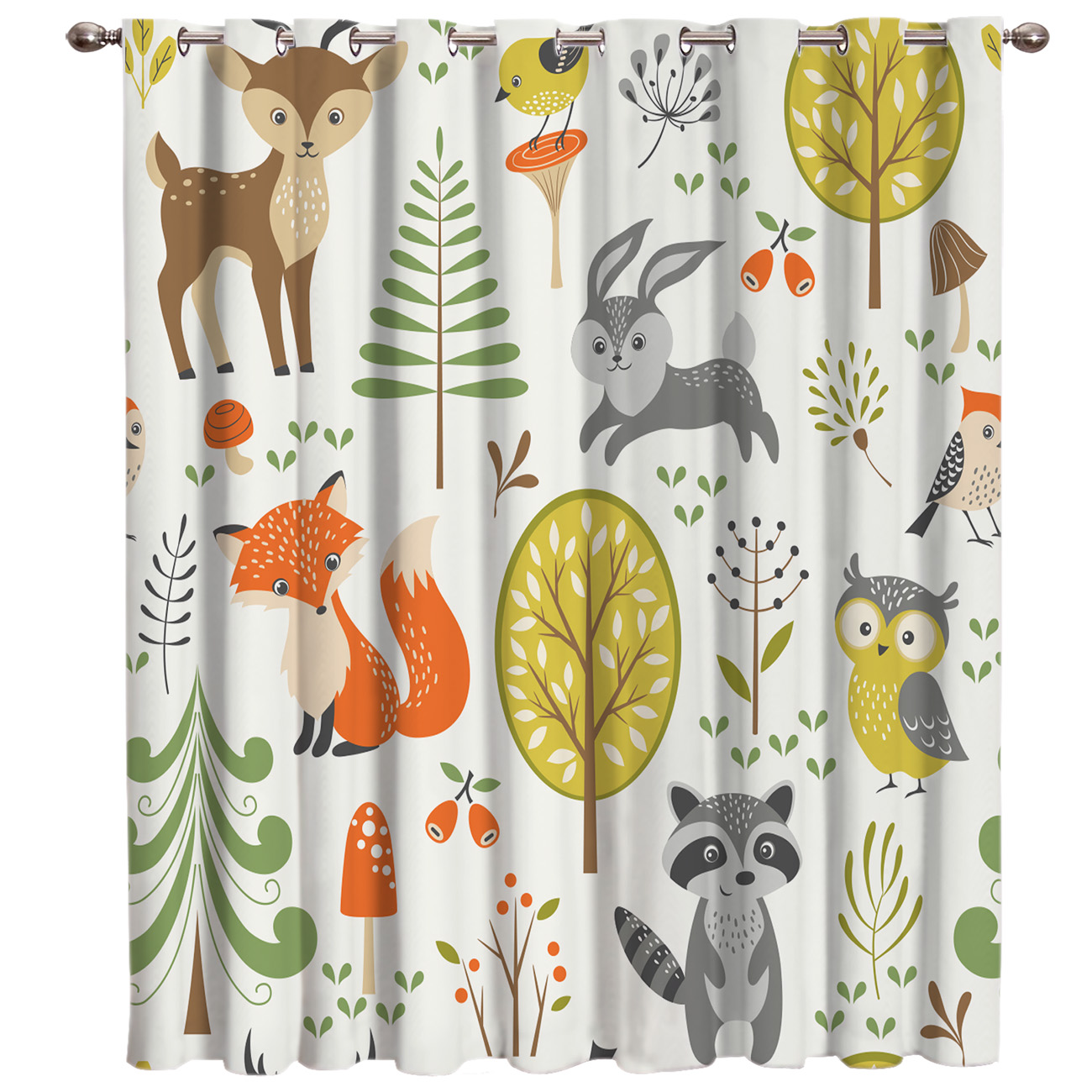 Cartoon Animals World Window Treatments Curtains Valance Window Blinds Bedroom Curtains Outdoor Bedroom Indoor Decor Kids