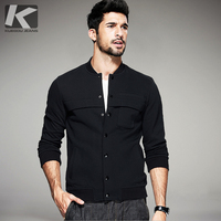 2016 Autumn Mens Casual Sweatshirts Black Patchwork Button Coats Man S Brands Clothing Male Slim Jackets