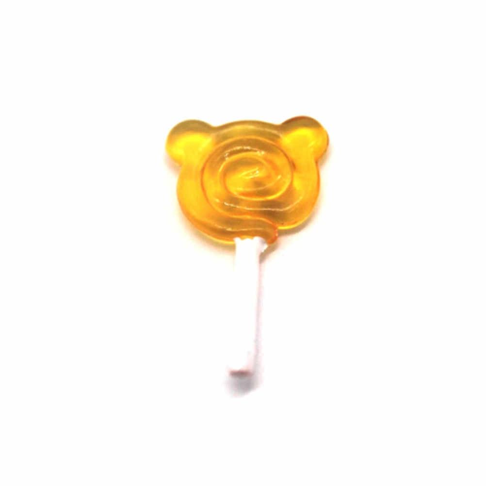 5pcs 귀여운 인형 집 미니어처 1:12 간식 캔디 베어 롤리팝 인형 집 장난감 어린이 선물