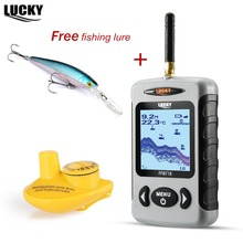 Underwater Detector Sonar Fish Finder Marine Alarm FFW718 Wireless Findfish for Fishing range 120m Depth 45m Lucky