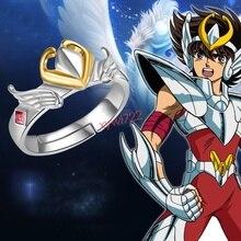 Saint Seiya: Leyenda del Santuario Anime, anillo de Plata de Ley 925 ajustable, regalo